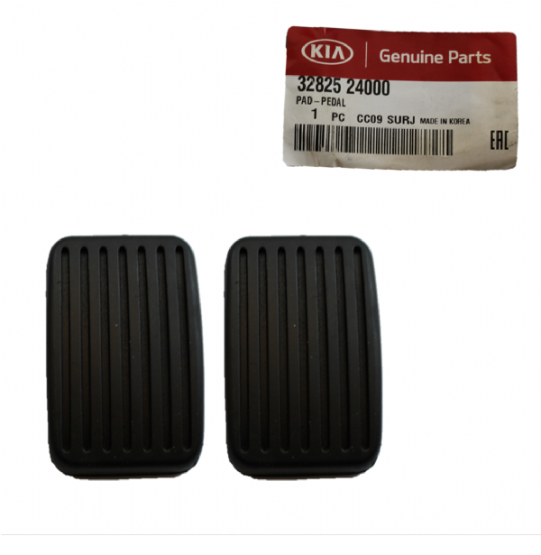 Genuine Hyundai Clutch and Brake Pedal Rubber Pads, Qty: 2, 3282524000